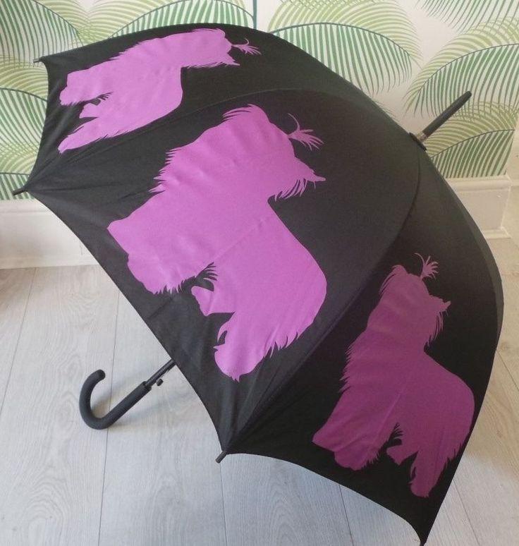 Yorkshire Terrier Dog Umbrella NEW Brolly The San Francisco Umbrella Company  #SanFranciscoUmbrellaCompany
