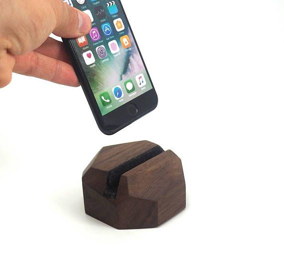 Smartphone stand-Wooden smartphone stand  iPhone station
