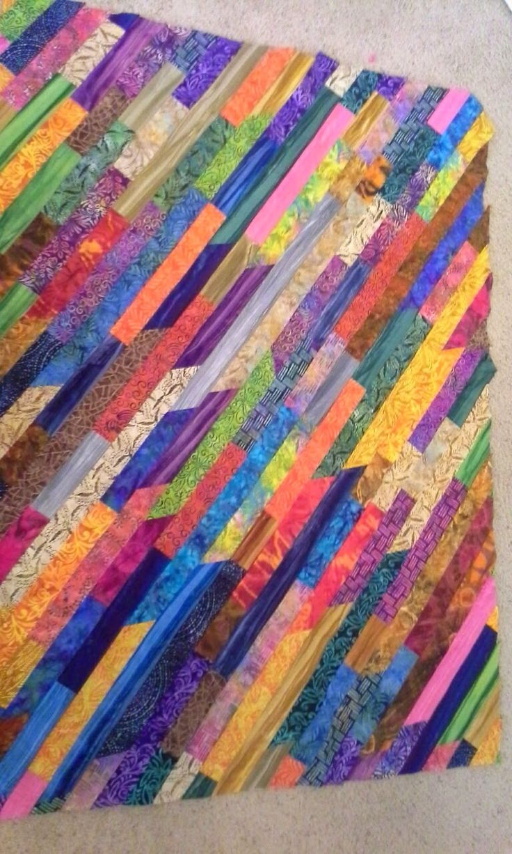 A Little of This and A Little of That: The Jelly Roll Quilt Race Quilt, On Point