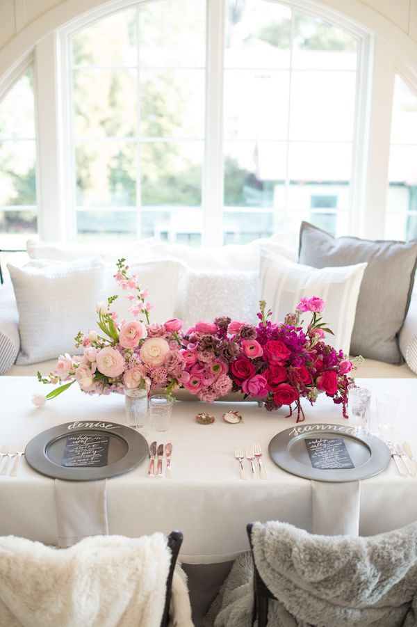 Valentine's Day table set-up