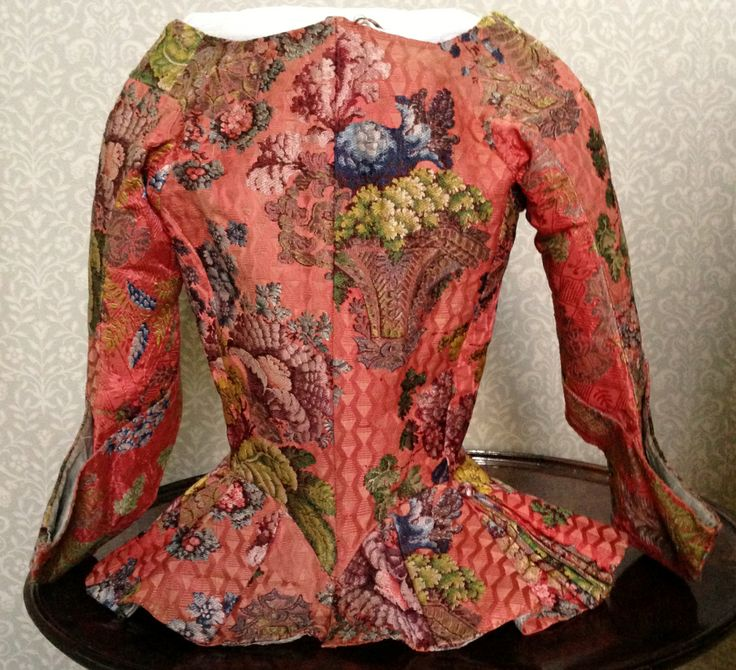 Rear view detail of Riding Jacket, 1736-40, Gorgeous Georgians at Berrington Hall 2014. From the Charles Paget Wade Collection stored at Berrington Hall