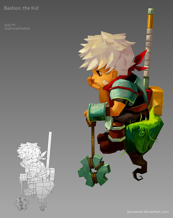 Bastion: the Kid by Pyroxene.deviantart.com on @deviantART