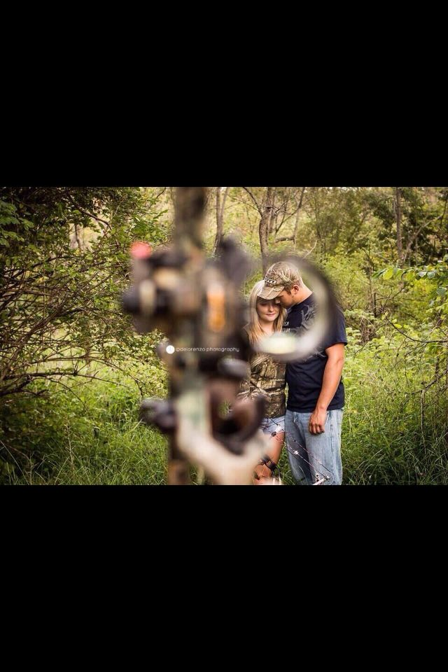 Engagement photo idea for a couple who hunts