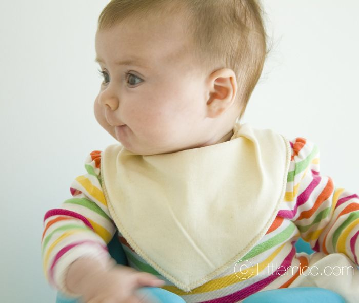 Highly absorbent Bandana Dribble Bib. Made from double layered soft cotton.