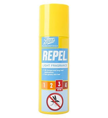 #Boots Pharmaceuticals Boots Repel insect repellent aerosol spray - #28 Advantage card points. Boots Pharmaceuticals Repel insect repellent aerosol spray is scientifically proven to provide effective protection from mosquitoes and other biting insects.UK, Europe and long haul destinations. Non-greasy skin feel. FREE Delivery on orders over 45 GBP. (Barcode EAN=5045094368570)