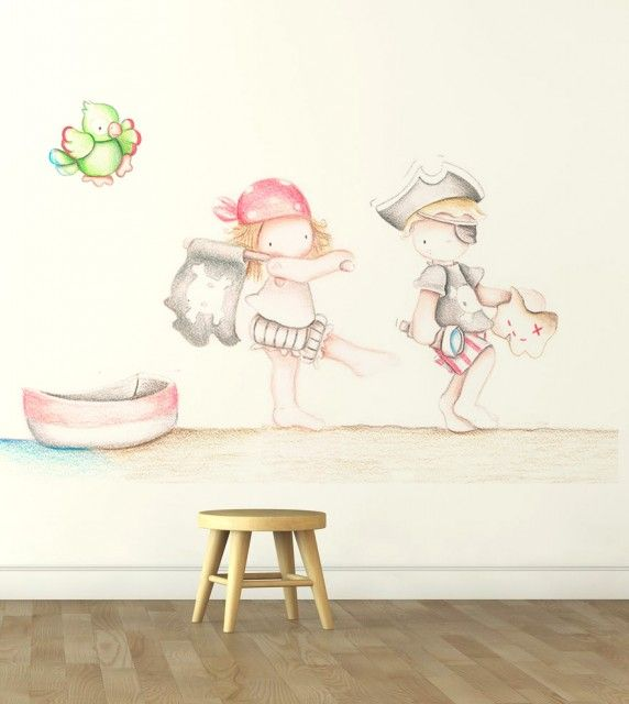 64 best images about decoracion papel pintado on pinterest - Papel pintado piratas ...