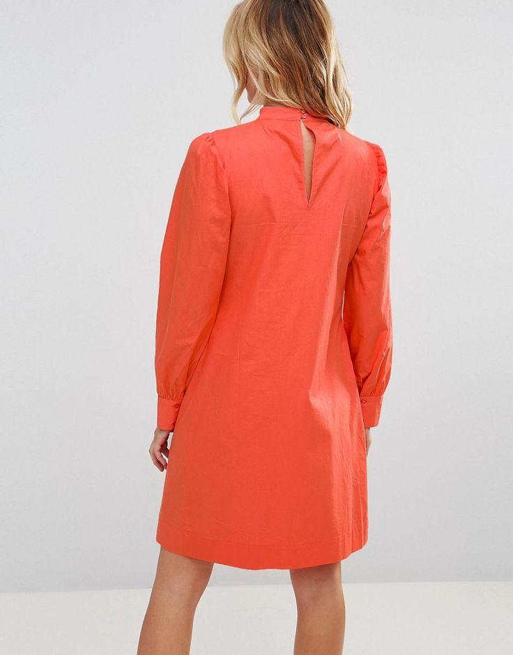 ASOS Maternity Dress with Lattice Front - Orange