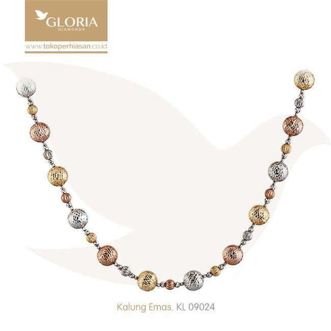 Kalung Emas Variasi Bola Kuning Coklat Silver. #goldnecklace #necklace #goldstuff #gold #goldjewelry #jewelry #perhiasanemas #kalungemas #tokoperhiasan #tokoemas