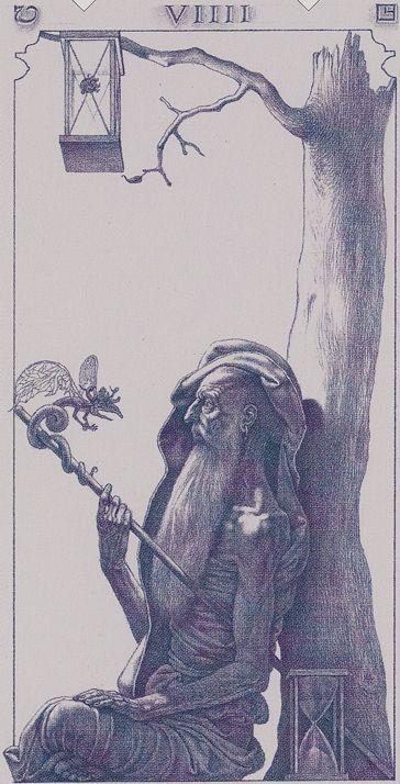 IX. The Hermit: Tarot of the III Millenium