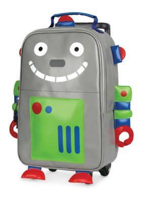 Stephen Joseph Rolling Backpack, Robot - Grey - One Size