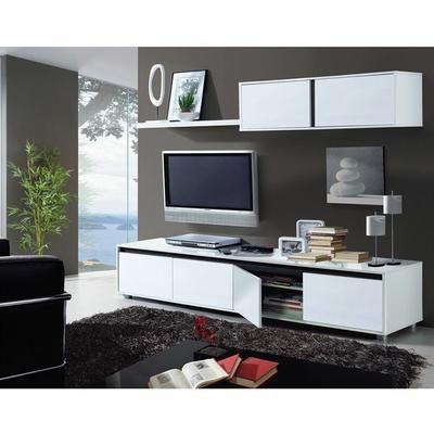 31 best idees meuble salon images on Pinterest Murals, Tv walls - peindre un meuble laque blanc