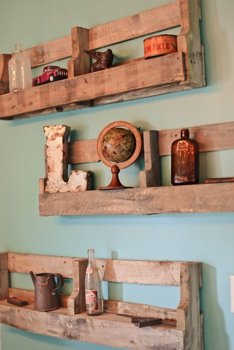 These shelves will make any room complete. They are made out of reclaimed wood and go well in any room, that has any theme. These shelves can