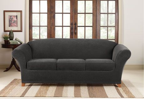 Stretch Piqu 233 Four Piece Sofa Slipcover Form Fit