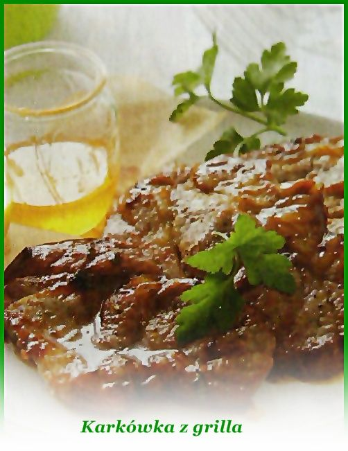 Mięso opłucz, osusz, rozbij lekko. Z podanych składników przygotuj marynatę, posmaruj nią mięso, marynuj całą noc. Następnie grilluj z każdej strony około 5-6 minut.