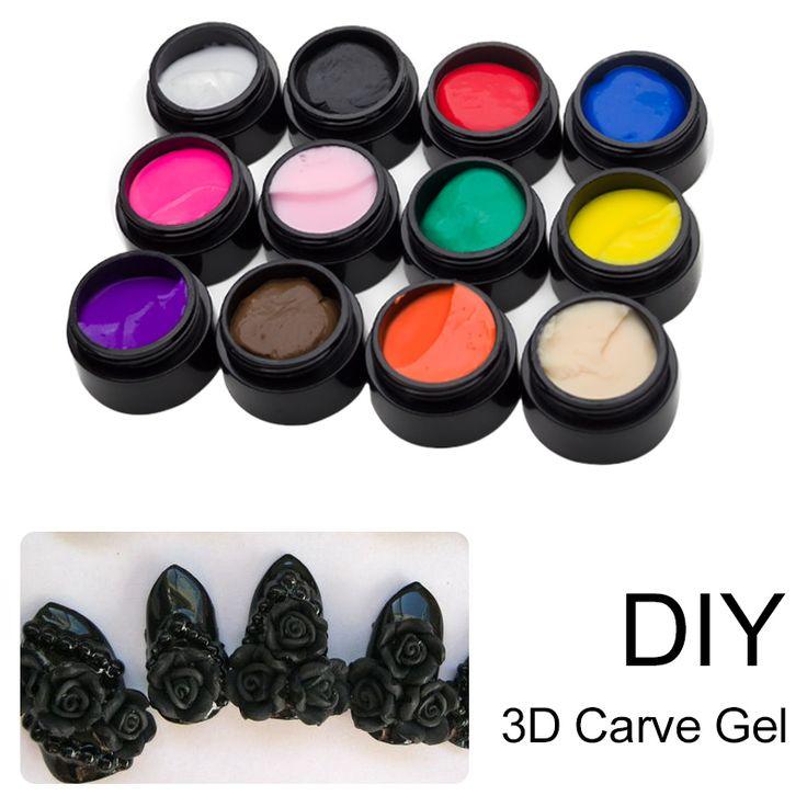 Pola Saviland 3D UV Gel Pemodelan Ukiran Patung Lukisan Coloured Nail Art Tips Dekorasi DIY Manicure Alat