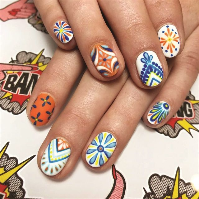 672 best flower nail art images on pinterest 2018 nail trend forecast prinsesfo Gallery