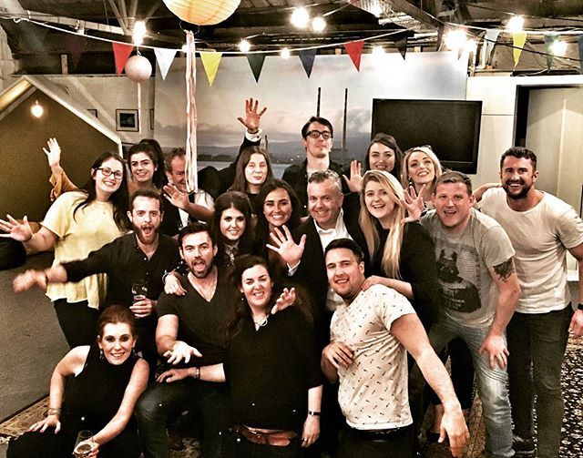 The Verve gang doing a bit of celebrating back at Verve HQ after the APMC Star #Awards on friday night. Look at all of those innocent #smiles. What a happy bunch we are.  #marketing #marketingagency  #marketinglife #brandactivations #experientialmarketing #experiential #dublin #party #events #eventprofs #digitalmarketing #marketingdigital by conorv27.  smiles #eventprofs #marketinglife #events #awards #marketingdigital #experientialmarketing #marketing #party #dublin #marketingagency…