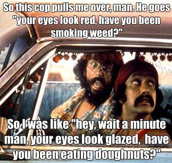 Cheech and Chong marijuana quote ~ ☮レ o √乇 ❥ L❃ve ☮~ღ~*~*✿⊱☮