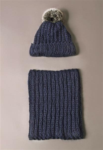 1411: Modell 4 Lue og hals #alpakka #strikk #knit