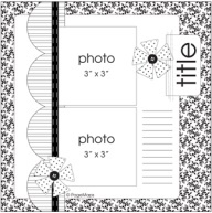 8X8 Scrapbook Layout Sketches | sketches #sketches #8x8 #6x6