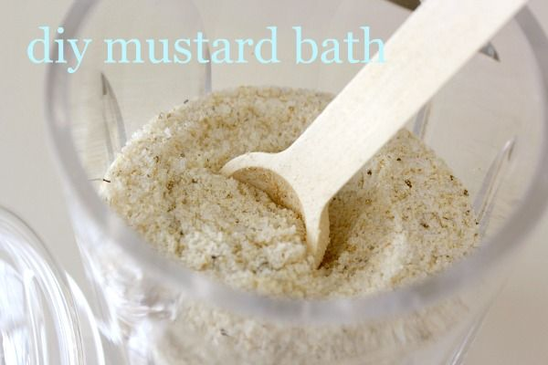 I've been going out of my way for years to find pre-packaged mustard bath I cannot believe I can make it at home now.