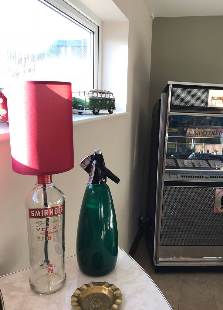 Excited to share the latest addition to my #etsy shop: Smirnoff Bottle Lamp, Vodka Bottle lamp, Upcycled Bottle lamp