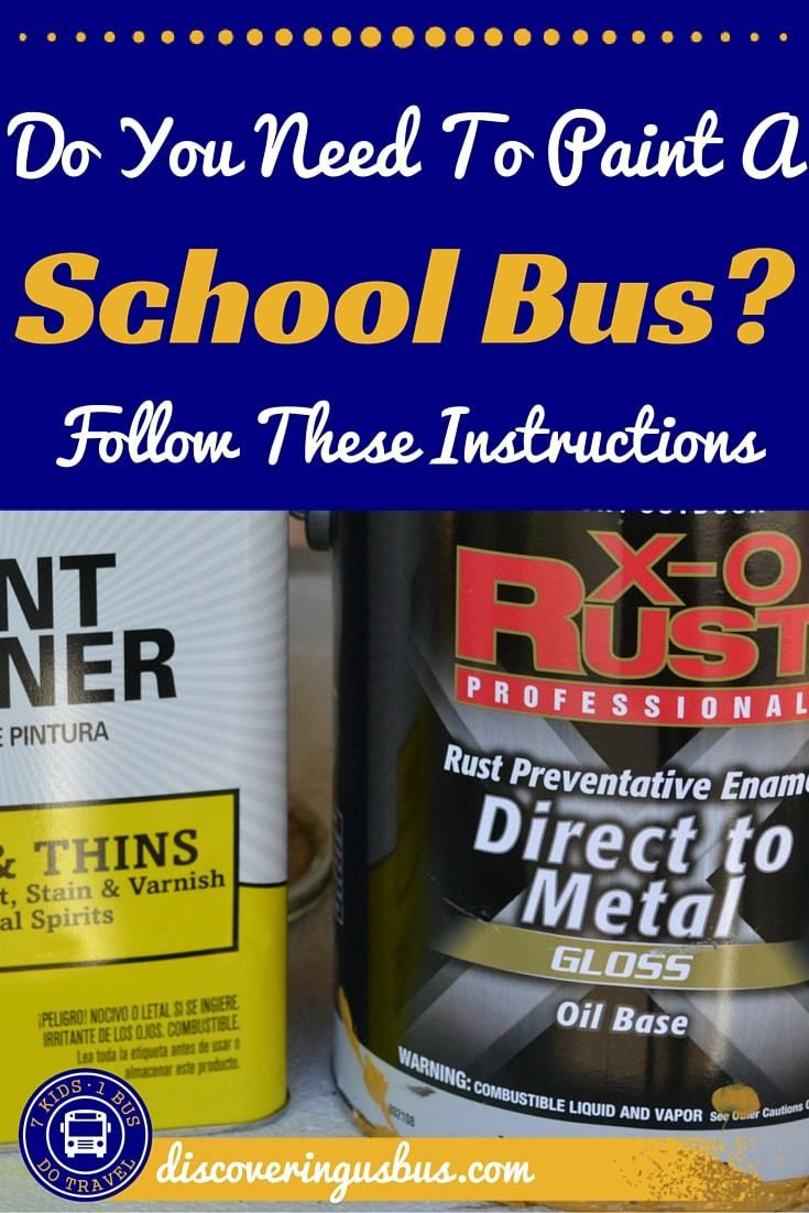 Are you in the process of converting a school bus? Did you know you could paint a school bus for less than $200? Click on this post to find out how. discoveringusbus.com