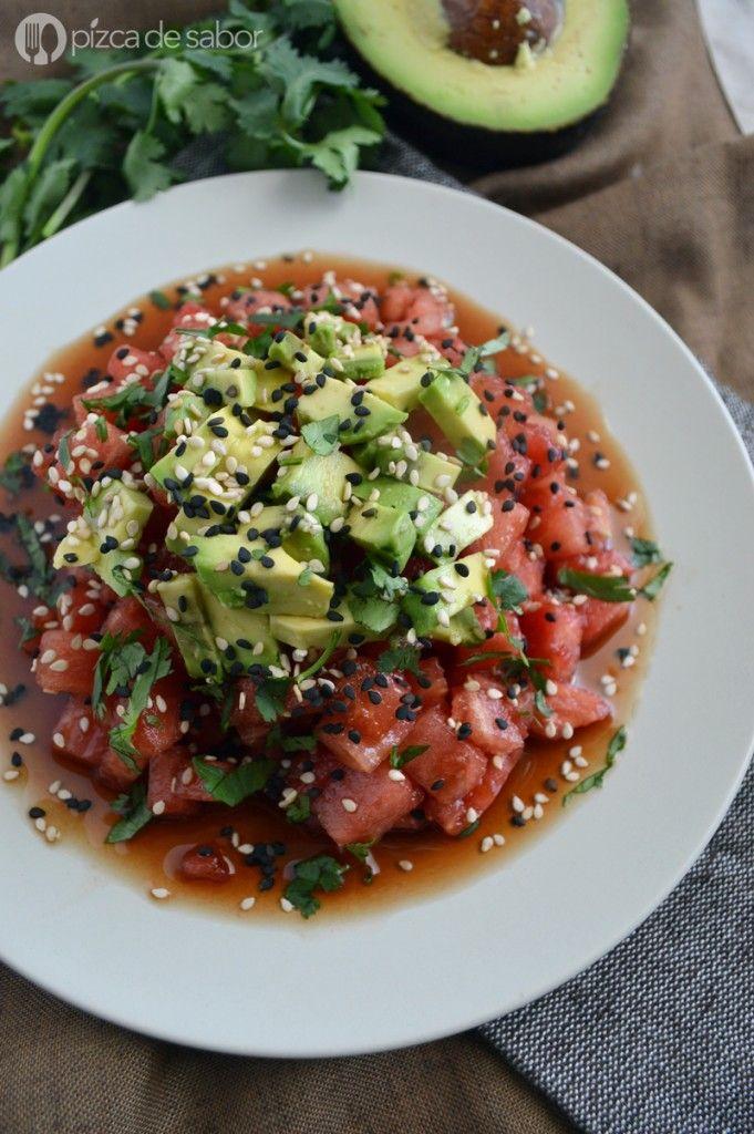 "Tartar de ""atún"" vegano | http://www.pizcadesabor.com/2015/07/27/tartar-de-atun-vegano/"