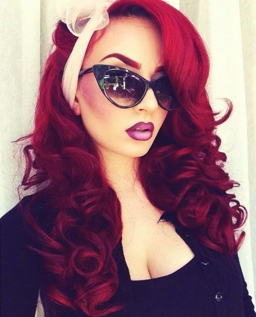 LOVE this deep crimson color!! I love red hair but it's too much maintenance