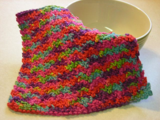 Crochet Scarf Patterns Using Q Hook : Ridges Dishcloth Crochet Pinterest Dishcloth ...
