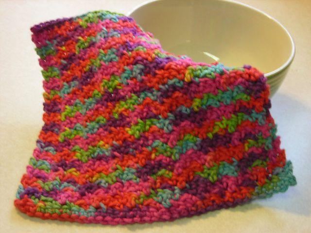 Crochet Scarf Patterns Using Q Hook : Ridges Dishcloth Crochet Pinterest Dishcloth ...