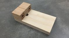 Connecting thin pieces of wood together is easy with dowels, which make strong joints. But lining them up can be a tricky process. Make this dowel jig for drilling accurate holes.