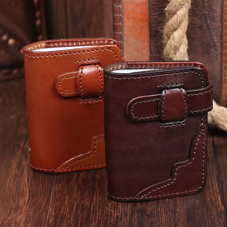 Men Women Real Leather Europe Retro Bank ID Card Holder 20 Business Card Slots  #JOYIR