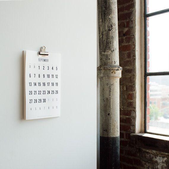 Calendrier mural de 2016 Simple Minimal Portrait 11 x par decoylab