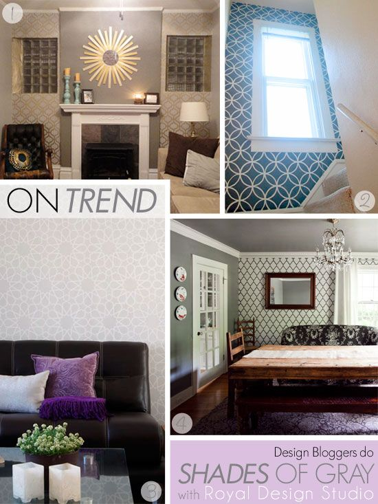 stenciling wall stencil patterns in gray colors for the home rh pinterest com