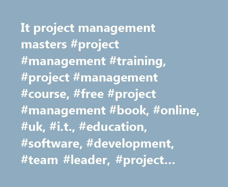 Best 20 project management courses ideas on pinterest for Master project management online