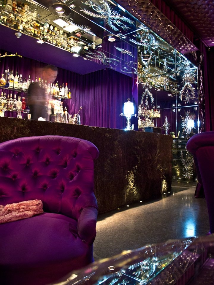 Inside the Purple Bar. This place had 86 different Vodkas alone. The Sanderson Hotel, London.