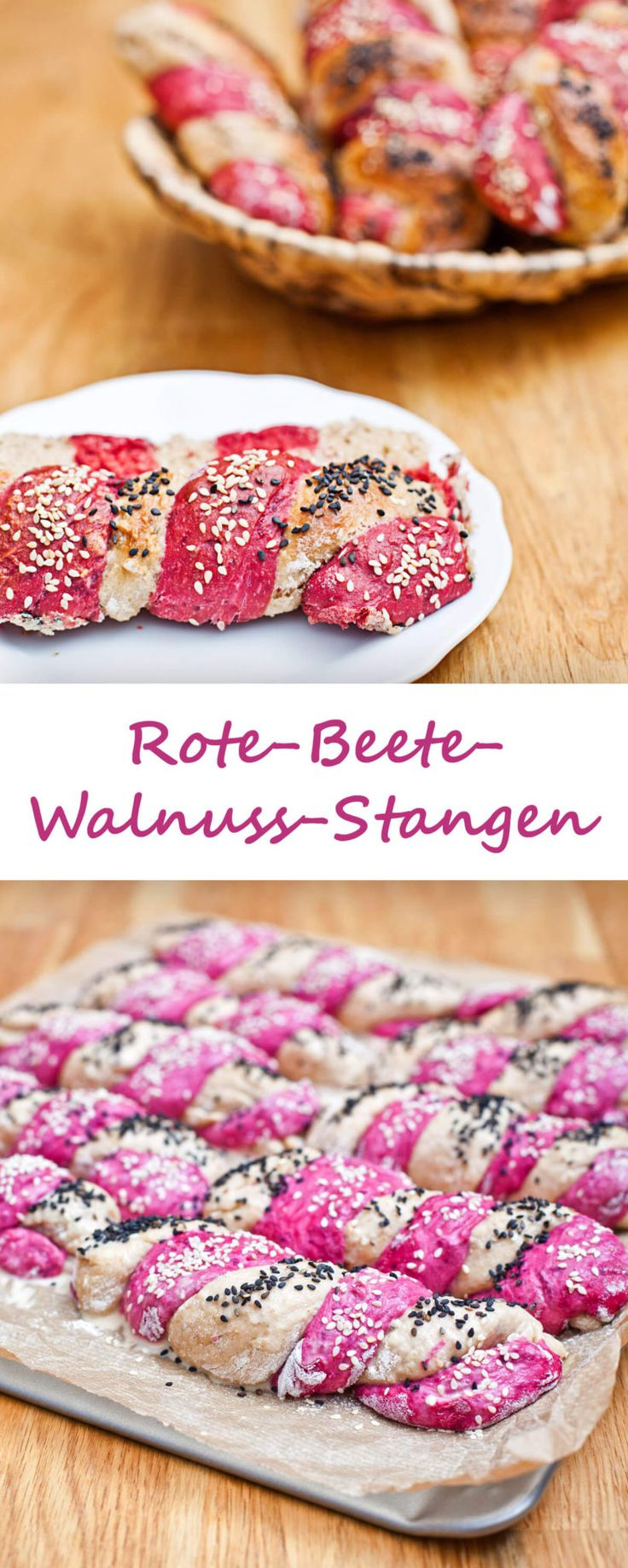 Rote-Beete-Walnuss-Stangen