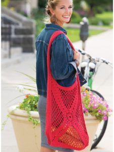 Radiant Motif Market Bag Crochet Pattern
