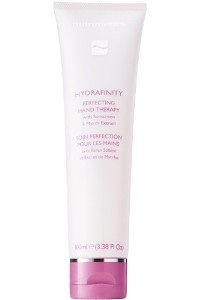 Hydrafinity Perfecting Hand Therapy 100ml    Ideal for everyday use, this silky crème keeps hands soft and youthful; strengthening weak, brittle nails and protecting from the ageing effects of the sun.    Ingredients: Alpine Glacial Water / Myrrh Extract / Sunscreen   Skin Type: All   Skin Condition: Hands & Feet