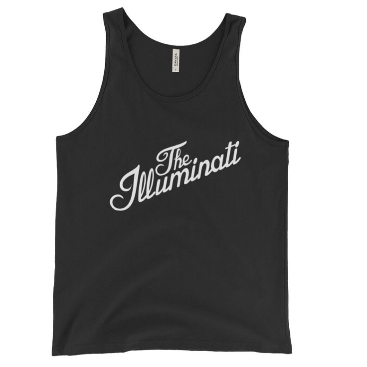 The Illuminati Unisex Tank Top by Mythic Politics.   #fashion #trendy #ootd #streetwear #sportswear #urbanwear #apparel #shirt #tank #top #unisex #illuminati #conspiracy #conscious #resist #protest #politics #religion #occult #magick #science
