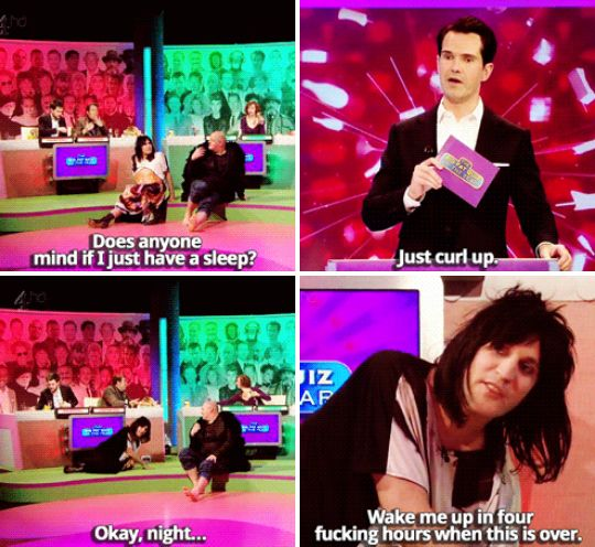 """So he just decided it would be best to have a little sleep.   27 Times """"The Big Fat Quiz Of The Year"""" Made You Literally LOL"""