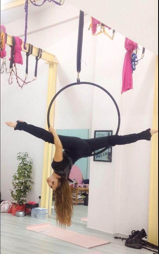 Aerial Lyra hoop splits