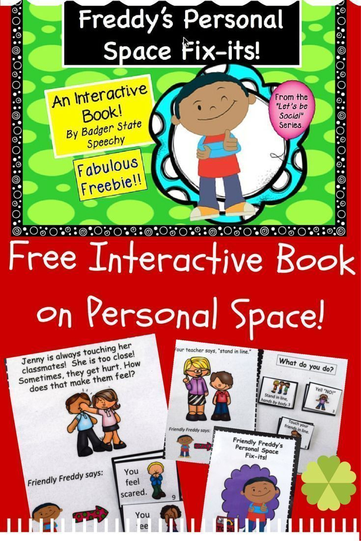 Free interactive book download for working on personal space issues with…
