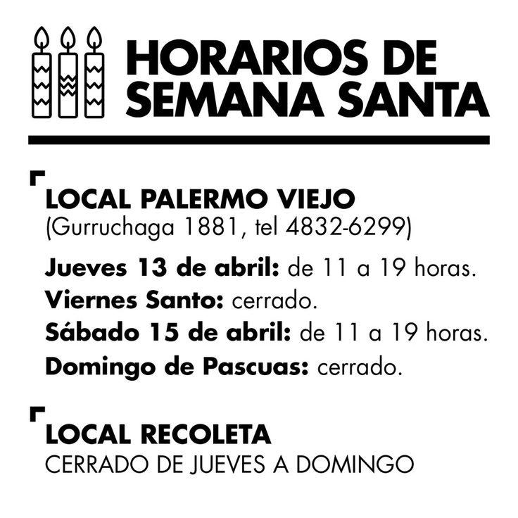 Horarios de Semana Santa - Elementos Argentinos