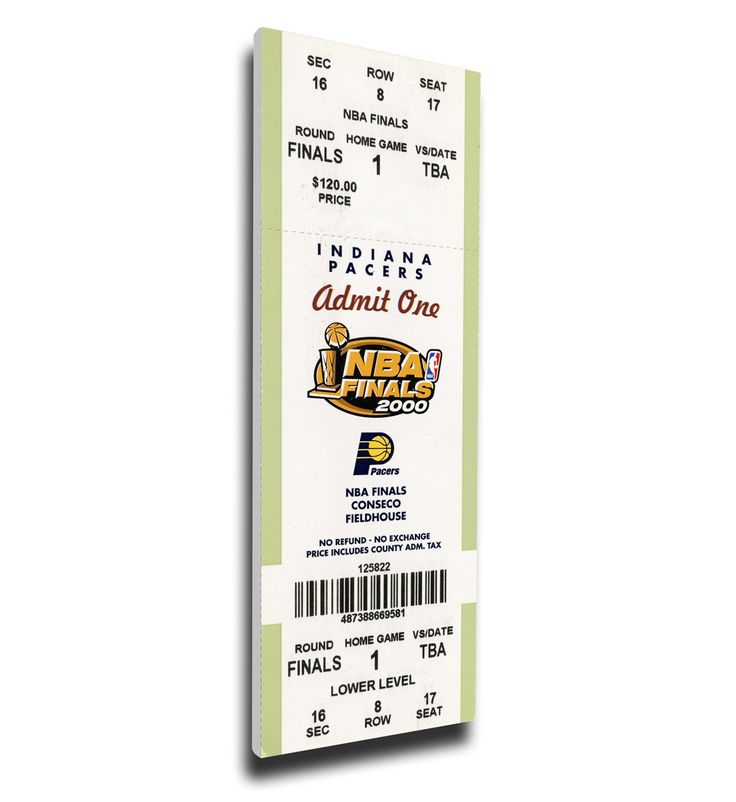Indiana Pacers Wall Art - 2000 NBA Finals Canvas Mega Ticket, First Finals Appearance