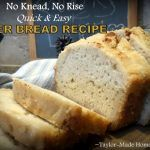 Quick & easy bread recipe that requires no kneading? No rising? NO KIDDING! Check out this easy beer bread recipe. #TaylorMadeHomestead