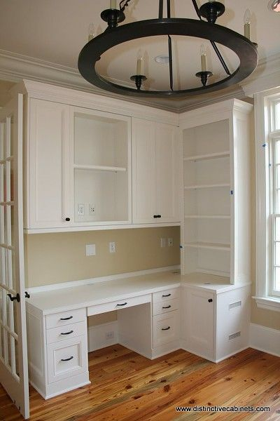 nice custom built ins for officecraft room