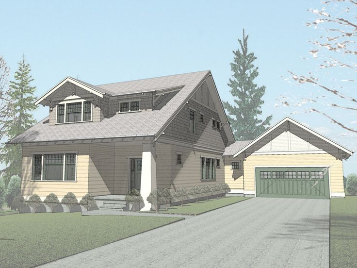 58 best Craftsman Bungalow House Plans images – Bungalow House Plans With Attached Garage
