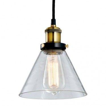 Glass industrial pendant light